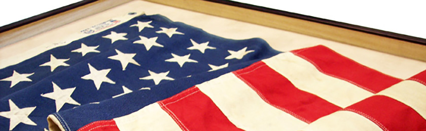 custom-framing-with-united-states-flag