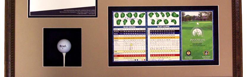 custom-framing-with-golf-memorabilia