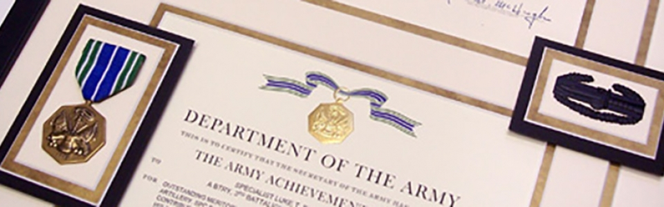 custom-framing-with-a-medal-and-certificate