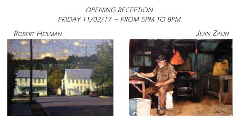 First Friday in November ~ Jean Zaun & Robert Heilman ~ Oil Paintings