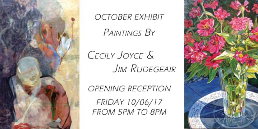 First Friday Artist's Reception: Cecily Joyce & Jim Rudegeair