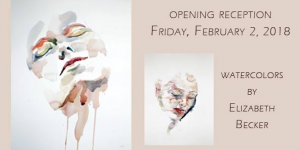 LIVING IN THE PRESENT MOMENT AND THE ABILITY TO LET GO: WATERCOLOR PORTRAITURE EXHIBITION AT LEBANON PICTURE FRAME
