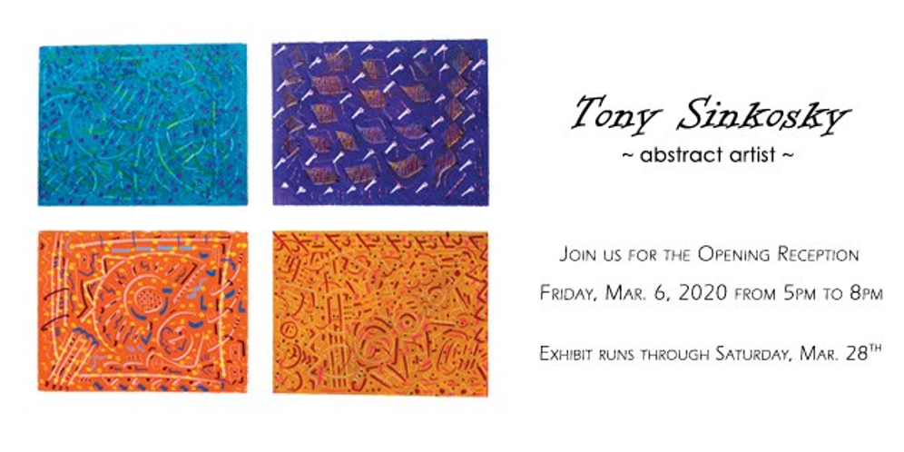 A FRENETICISM MOVEMENT IS UNDERWAY! ABSTRACT PAINTINGS & DRAWINGS BY TONY SINKOSKY.